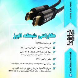 :: کابل HDMI2.0 کی نت پلاس :: AlborzNetwork@| شبکه البرز