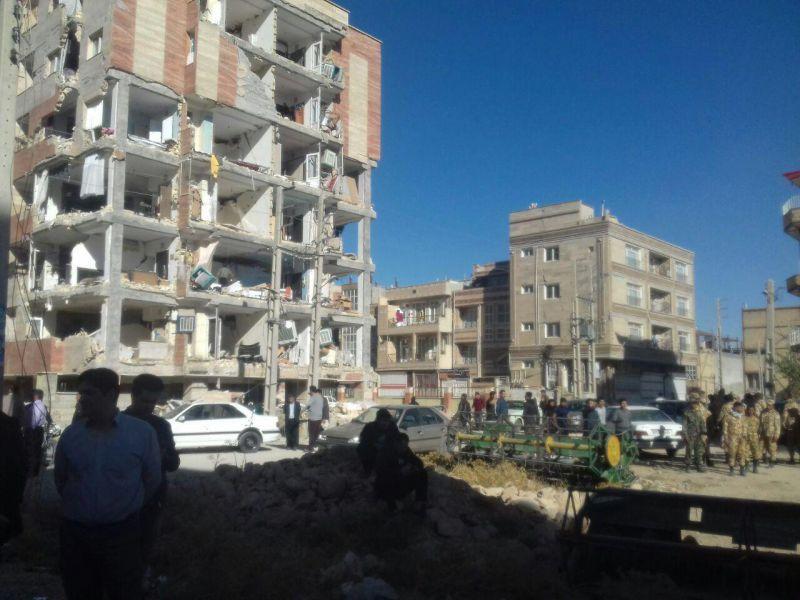 تخریب ساختمان در اثر زلزله 7 و 3 دهم ریشتری سرپل ذهاب