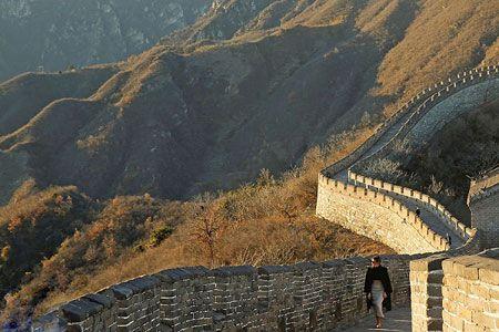 ملانیا ترامپ و گردش در دیوار چین- پکن