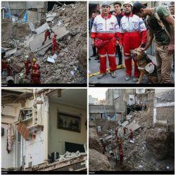 این تصاویر زلزله غرب ایران نیست! این ساختمانی نامستحکم در تهران است که دیروز در اثر گودبرداری زمین مجاور بدون زلزله، فرو ریخت.  زلزله بیاد چی میشه.!!