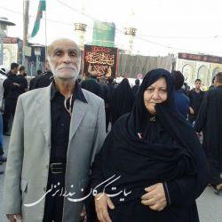 آقای جواد حسینی به همراه همسر محترم
