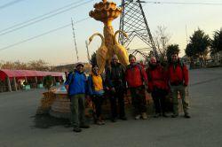 سلام همگی عاقبت بخیر باشید یک روز عالی با همنوردانم از مسیر دربند، قله توچال، ولنجک  ۱۳۹۶/۹/۶