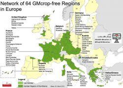 64 ناحیه عاری از کشت #تراریخته در اروپا منبع: gmo-free-regions-nrw.de
