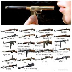 تصویر پایین  تمام سلاحهای قابل حمل جنگ جهانی دوم هستند که باعث مرگ میلیونها نفر شدند  و تصویر بالا سلاح گرمی به نام سیگار است که طبق تحقیقات از هر دو جنگ جهانی بیشتر آدم کشته