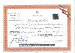 گواهینامه استاندارد ملی ایران به شماره 1-12142 برای لوله های ناودانی