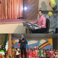 اجرای جشن یلدا امروز عصر مهد کودک گلچین ملائک گلبهار مجری و خواننده میلاد راخین