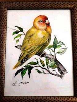 نقاشی ترکیبی مداد رنگی و ابرنگ همراه با قاب برای خرید به ایدی زیر مراجعه کنید nghashazo9999