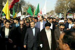 حضور آیت الله #علم_الهدی در راهپیمایی مردم #مشهد در محکومیت #آشوب های اخیر