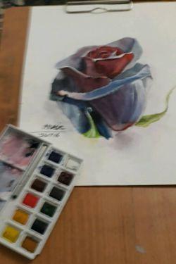 نقاشی ابرنگ گل رز بدون قاب برای خرید به ایدی زیر مراجعه کنید nghashazo9999