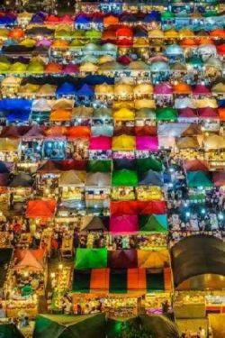 بازار شبانه تالاد نود رود فای در تایلند....