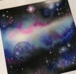 نقاشی کهکشان با ابرنگ  برای دیدن ویدئو اموزشی این نقاشی به ایدی زیر مراجعه کنید. nghashazo99999