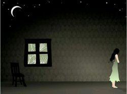 شب فرو می افتاد... به درون آمدم و پنجره ها را بستم،باد با شاخه در آویخته بود.من در این خانه،تنها،تنها،،،،،غم عالم به دلم ریخته بود..