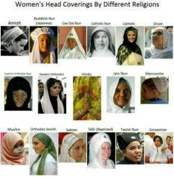 #حجاب در ادیان مختلف  حجاب #پدیده_اسلام_نیست،بلکه قبل از اسلام در تمام ادیان وجود داشته است... تمام #بانوان_باعفت این حکم الهی را رعایت میکردند..