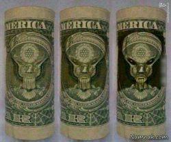تصویر مخفی جن در دلار
