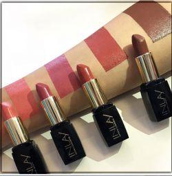 این لی، با مجموعه ای از رنگ های زیبا انتخاب من است...   شماره و اسم رژلب ها از چپ به راست  Spring Blossom 500  Kindness 580  Cinnamon 400  Chocolate Bar 450 #این_لی #محصولات_آرایشی #بدون_سرب #بدون_پارابن #رژلب  #inlay #cosmetics #lipstick #parabenfree