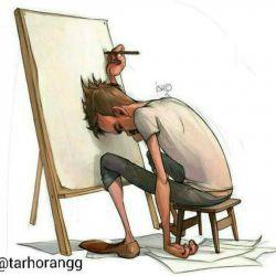 زندگی هنر كشیدن نقاشیست بدون هیچ پاك كنی❗️