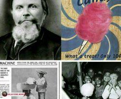 مخترع پشمک در سال 1897 دندانپزشکی به نام ویلیام موریسون، هنگام ساخت نوعی دستگاه سانتریفوژ موفق شد قند را تبدیل به رشته هایی نرم کند که تبدیل به تجارتی پرسود برای او شد.