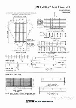 تلرانس ساخت گریتینگ - استاندارد ANSI MBG 531 - شرکت تشفا
