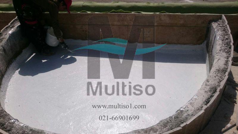 عایقکاری سطوح پشت بام با مواد عایق نانو مولتیزو هم به صورت بیرنگ و هم به صورت رنگی برای آببند کردن سنگ و سرامیک و سیمان