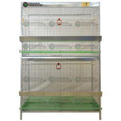 قفس مرغ و خروس امپراطور،نژاد های درشت هیکل/ جنس: تمام گالوانیزه ضد زنگ / ظرفیت: (2 جفت) / طول: 125 cm /عرض: 82 cm /  ارتفاع: 185 cm