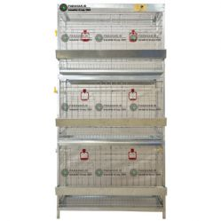 قفس 3 طبقه قرقاول/ جنس: تمام گالوانیزه ضد زنگ/ ظرفیت: (24)/ طول: 100 cm/ عرض:62 cm / ارتفاع: 200 cm
