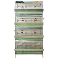 قفس 4 طبقه کبک / جنس: تمام گالوانیزه ضد زنگ / ظرفیت: (60) / طول: 100 cm / عرض: 62 cm / ارتفاع:  200 cm