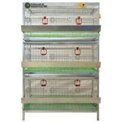 قفس 3 طبقه کبک / جنس: تمام گالوانیزه ضد زنگ / ظرفیت: (45) / طول: 100 cm / عرض: 62 cm / ارتفاع:  175 cm