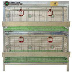 قفس 2 طبقه کبک / جنس: تمام گالوانیزه ضد زنگ / ظرفیت: ( 30) طول: 100 cm / عرض: 62 cm / ارتفاع:  120 cm