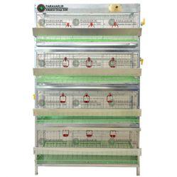 قفس 4 طبقه بلدرچین / جنس: تمام گالوانیزه ضد زنگ / ظرفیت: ( 125) /  طول: 100 cm / عرض: 62 cm / ارتفاع:  160 cm
