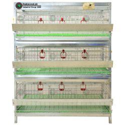 قفس 3 طبقه بلدرچین / جنس: تمام گالوانیزه ضد زنگ / ظرفیت: ( 99) /  طول: 100 cm / عرض: 62 cm / ارتفاع:  130 cm