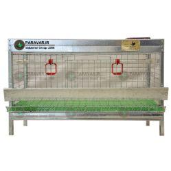 قفس تک طبقه کبک تخمگذار / جنس: تمام گالوانیزه ضد زنگ /ظرفیت: ( 15) طول: 100 cm / عرض: 62 cm / ارتفاع:  cm 33