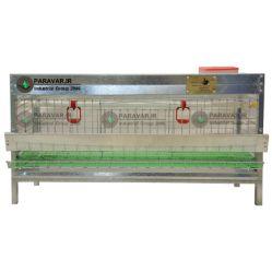 قفس تک طبقه بلدرچین تخمگذار/ جنس: تمام گالوانیزه ضد زنگ / ظرفیت:(30) طول: 100 cm / عرض: 62 cm / ارتفاع: 52 cm