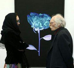 محمود دولت آبادی در افتتاحیه گالری گل مردگی نیکی کریمی