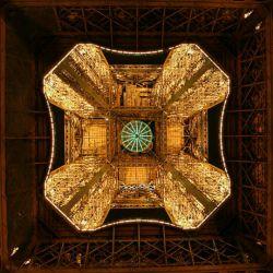 نمای برج ایفل از پایین!