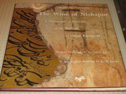 """خراسان غربی / کتاب """"The Wine of Nishapur: A Photographer's Promenade in the Rubaiyat of Omar Khayyam"""" (شراب نیشابور: سیری عکاسانه بر رباعیات عمر خیام)؛ ترجمه انگلیسی کریم امامی از رباعیات حکیم عمر خیام نیشابوری؛ با آثار عکاسی شاهرخ گلستان درآمیخته و کتاب نفیس و بدیع «شراب نیشابور» را پدید آورده؛ این کتاب، نخستین بار، در نوامبر ۱۹۸۸م توسط  انتشارات  Souffles پاریس در قطع رحلی مربع در نوامبر 1988 منتشر شده است."""