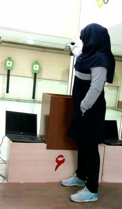 من یه تیراندازم،از روز اول نیت کردم به کل جهان ثابت کنم حجاب مانع پیشرفت من نیست. #حجاب_مانع_نیست