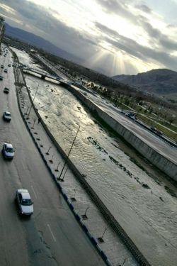 یکروز بارانی و غروب آفتاب در شهر خرم آباد.....