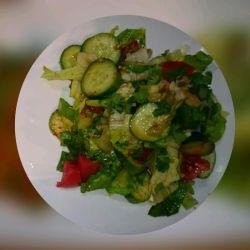 سالاد سبزیجات باروغن کنجدوسرکه،آرزوپز #آشپزی