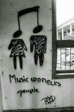 موسیقی آدم ها رو به هم وصل میکنه ...