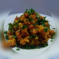 خوراک گل کلم وسیب زمینی #آشپزی