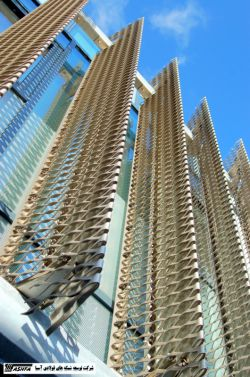 استفاده از توری کششی در نمای ساختمان