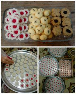 سلام عزیزای دلم...اینم از شیرینی هایی که خودم و دوستانم درست کردیم برای عید ☺ البته این فقط بخشی از شیرینی هاست #دختر_باس_هنرمند_باشه #عیدتون_مبارک #سال_1397 #نوروز_97 #شیرینی_عید