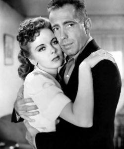 همفری بوگارت» و «آیدا لوپینو»، در نمایی از فیلم High Sierra، محصول 1941 Ida Lupino, Humphrey Bogart