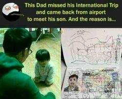 پدره میره فرودگاه واز پرواز بین المللیش جا می مونه و برمیگرده خونه علتشم این ☝☝☝بوده☺☺☺میلاد باسعادت امیرالمومنین علیه السلام وروزپدر گرامی باد .دست بوس همه پدرای فداکار❤