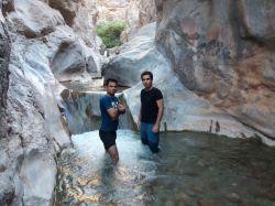 کوه و آبشار زیبای ابدال آباد همراه باجناق عزیزم