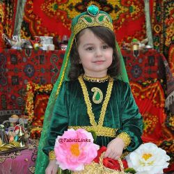 لباس زیبای سنتی آذربایجان