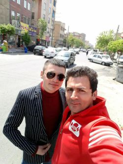 me and my dear friend vahid right now