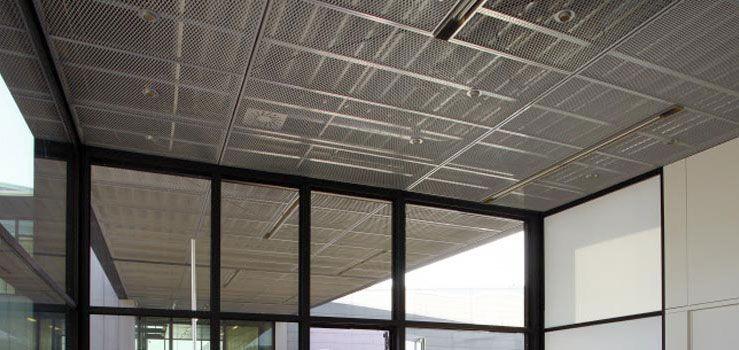 سقف کاذب ساخته شده با توری