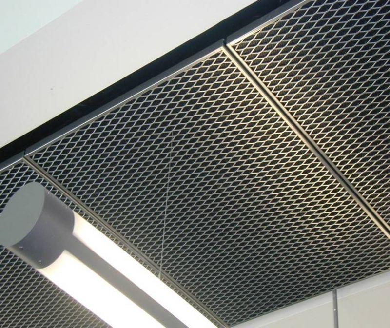 سقف کاذب ساخته شده یا استرچ متال