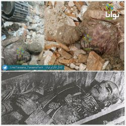 مومیایی منتصب به رضاشاه کبیر،که در ضلع غربی حرم عبدالعضیم پیدا شده،دقیقا محل مقبره ای که خلخالی ویران کرد